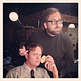 The Office's Rainn Wilson got a touch-up from comedian Eric Wareheim. Source: Instagram user rainnwilson
