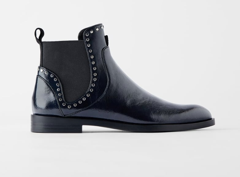 Zara Flat Ankle Boots With Studs | The