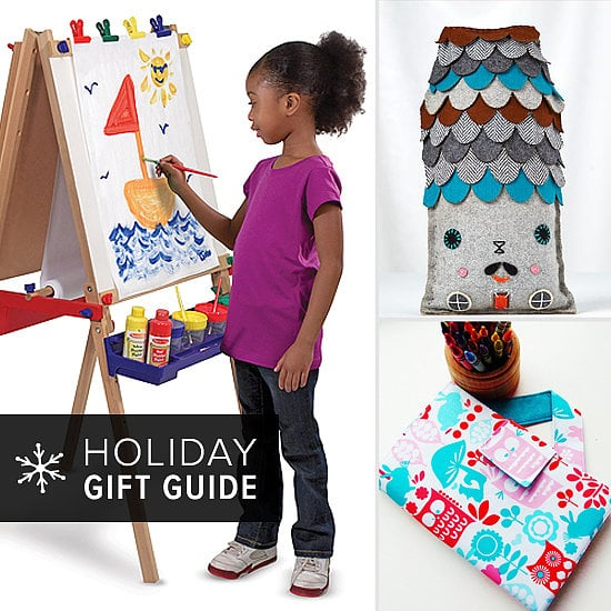Your little one's works of art cover the fridge — and not because you feel obligated. Turns out he has some serious skills, so much so that you know a pack of crayons and a new coloring book won't make him happy. Get him MOMA-ready with POPSUGAR Moms's roundup of artsy gifts that will harness his creative talent — not to mention help decorate your home!