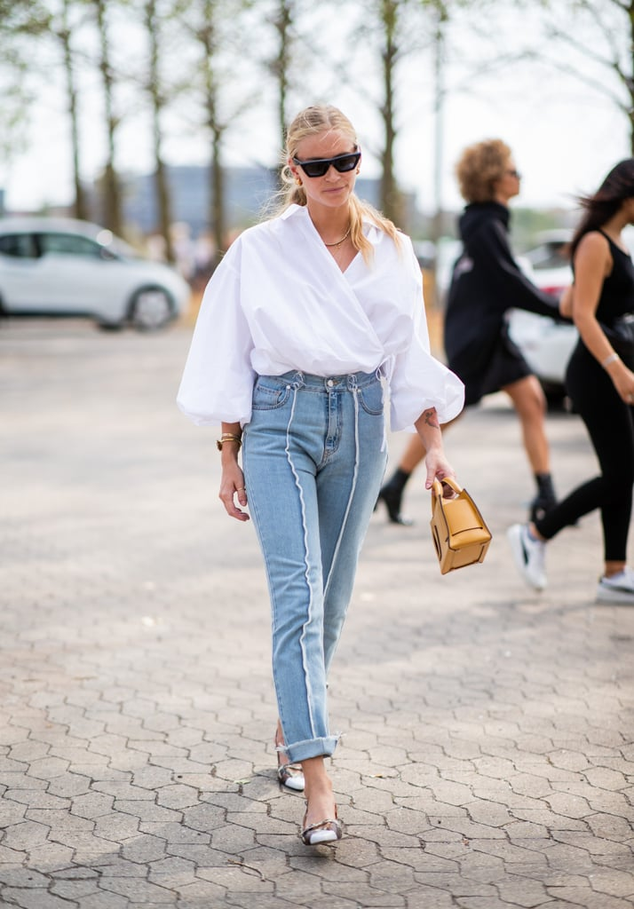 Reinvent jeans and the white button-down with fresh silhouettes
