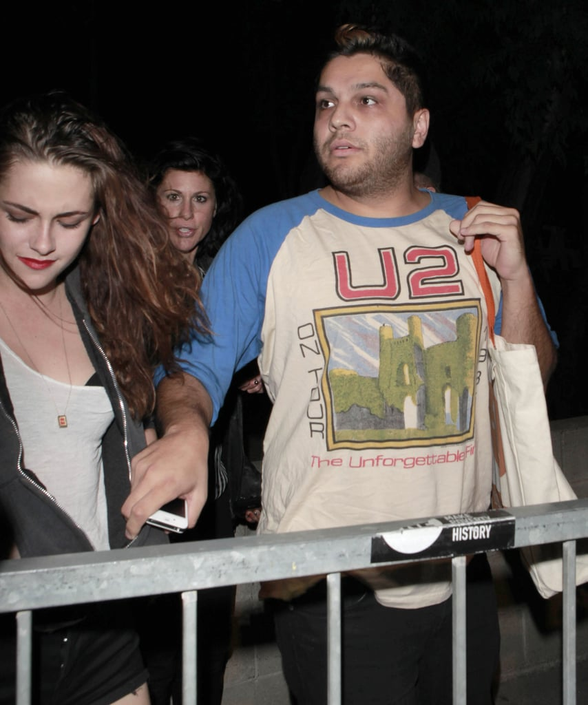 Kristen Stewart and friends attended a Florence and the Machine concert.