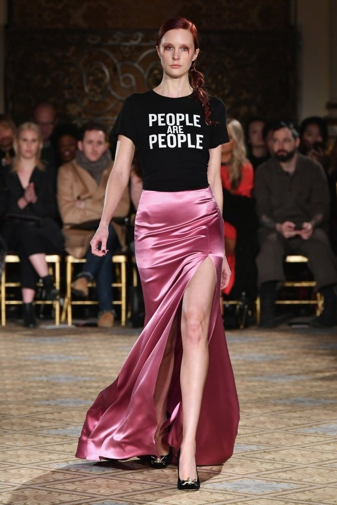 Christian Siriano's Show Had Plenty of Pretty Gowns, but This T-Shirt Got All the Cheers