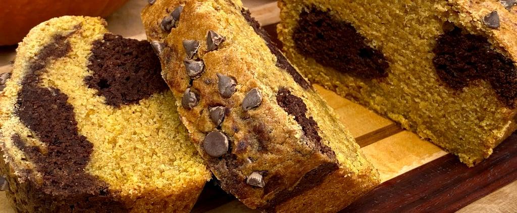 Vegan Chocolate-Marbled Pumpkin Protein Bread