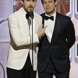 Ryan Gosling and Brad Pitt Shared the Stage