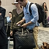 Blake Lively and Ryan Reynolds waited at the airport in Detroit.