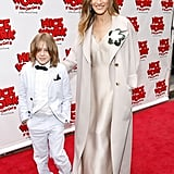 Sarah Jessica Parker and her son, James Wilkie Broderick, got all dressed up and hit the NYC red carpet together for the Broadway opening of Matthew Broderick's play Nice Work If You Can Get It in April 2012.