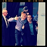 Conan posed with comedian Jimmy Pardo on the set of his show. Source: Instagram user teamcoco