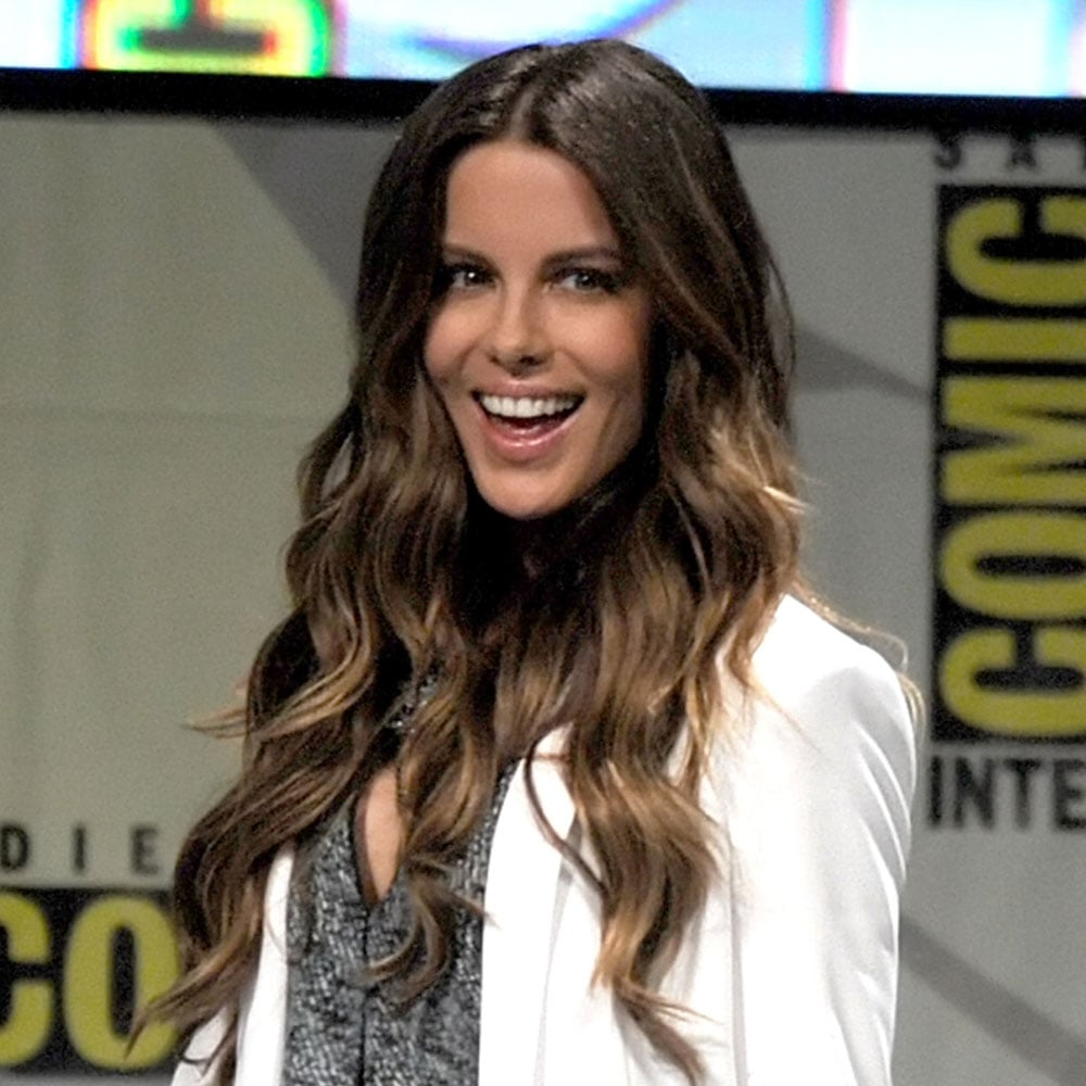 Speaking about long, healthy hair, Kate Beckinsale had her signature voluminous mane on show