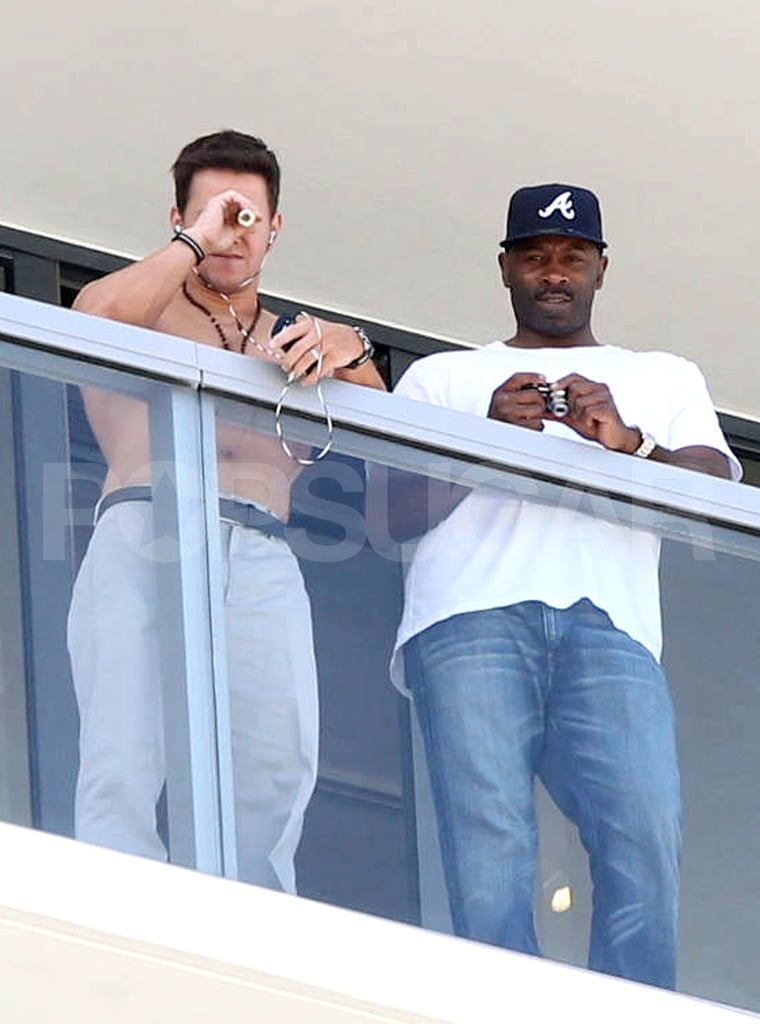 Mark Wahlberg hung out shirtless.