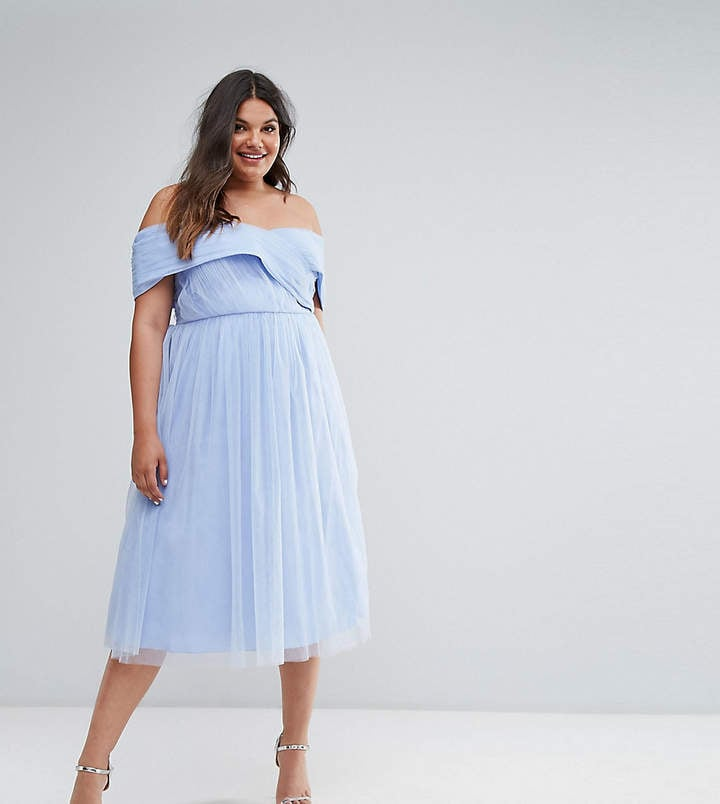 Asos Wedding Tulle Midi Dress Wedding Guest Dresses For Spring And