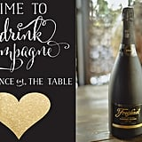 Free Champagne Printable