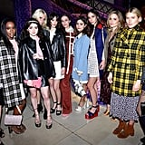 Zoey Deutch, Aja Naomi King, Maisie Williams, Poppy Delevingne, Hailey Gates, Jenna Coleman, Dianna Agron, and Dree Hemingway