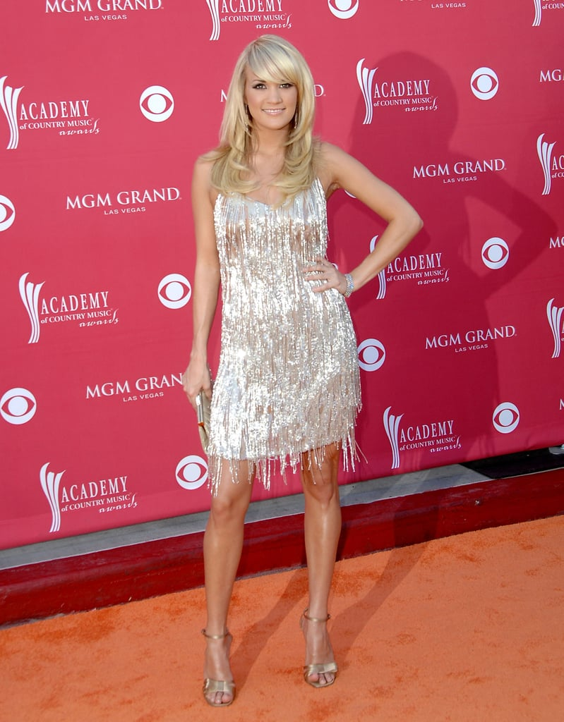 Carrie had a flapper moment in Badgley Mischka at the 2008 Country Music Awards.