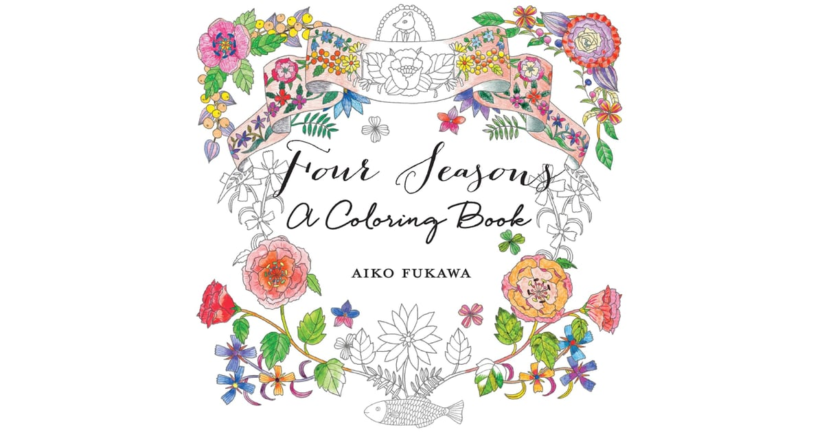 4 Seasons Colouring Sheets : Four seasons: a coloring book adult books popsugar