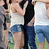 Hilary Duff cozied up to husband Mike Comrie.