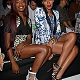 Azealia Banks and Solange Knowles showed off their respective front-row styles at Just Cavalli.