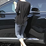 Charlize Theron kept it casual in flip-flops while running errands.