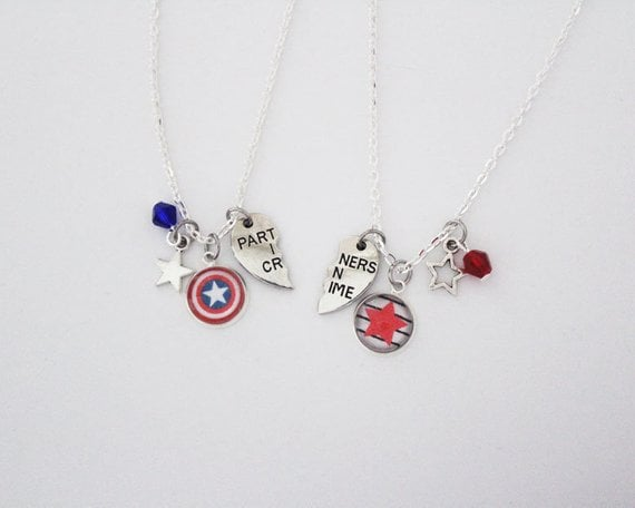 Steve Rogers and Bucky BFF Necklaces