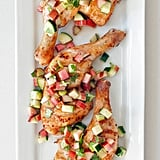 Chicken Thighs With Rhubarb and Cucumber Salsa