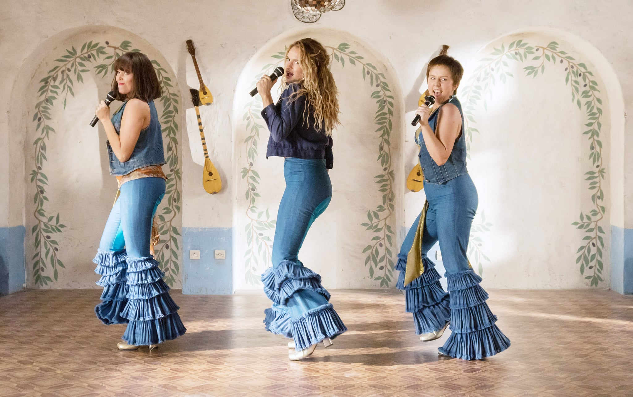 MAMMA MIA! HERE WE GO AGAIN, from left: Jessica Keenan Wynn, Lily James, Alexa Davies, 2018. ph: Jonathan Prime/  Universal Studios /Courtesy Everett Collection