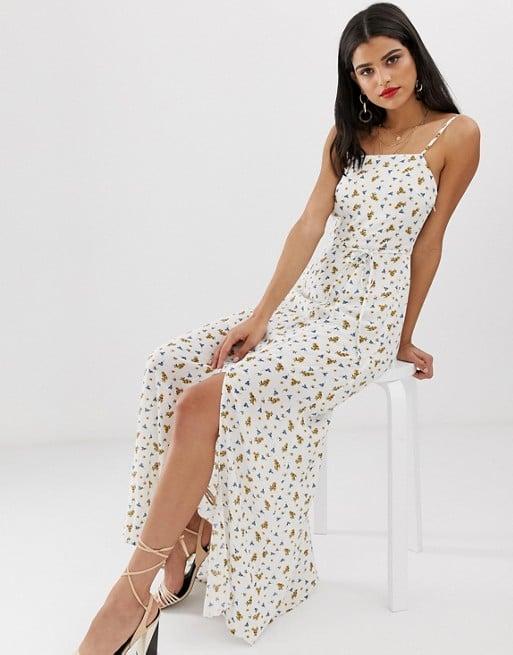 Vero Moda Tall Floral Square Neck Maxi Dress