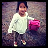 Josh Kelley shared a photo of daughter Naleigh while making their way through the airport.  Source: Instagram user joshbkelley