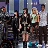 Demi Lovato joined her contestants on stage.