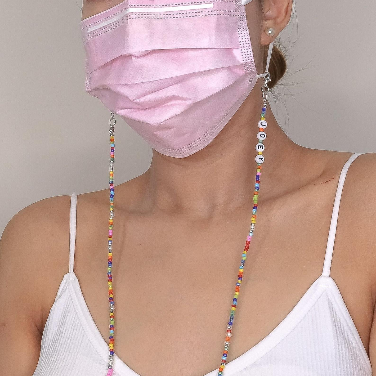 Beaded Mask Chain Holder | 13 Face-Mask Chains That Are Both Cute and  Practical | POPSUGAR Fashion Photo 2