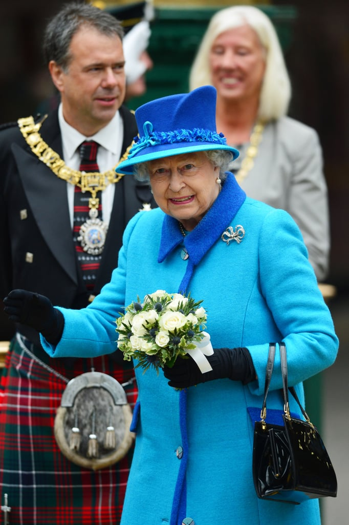 "Queen Elizabeth II is officially Britain's longest-reigning monarch! On Wednesday, Sept. 9, the royal surpassed her great-great grandmother Queen Victoria's record by one day, having now ruled for a total of 63 years and seven months. The queen spent the record-breaking day in Scotland, where she and Prince Philip travelled from Edinburgh to Tweedbank on a steam train. Later, as she opened the new Scottish Borders Railway, the queen spoke about her new record, saying, ""Inevitably a long life can pass by many milestones — my own is no exception — but I thank you all and the many others at home and overseas for your touching messages of great kindness."" For more about the fascinating royal, read 12 facts you probably didn't know about the queen, and then see her slightly awkward moments with Kate Middleton."