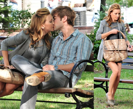 Pictures of Chace Crawford Kissing Katie Cassidy on Gossip Girl Set
