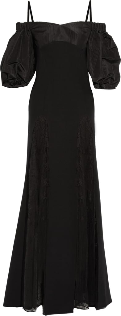 Alessandra Rich Lace and Moire-Paneled Silk-Blend Gown ($2,850)