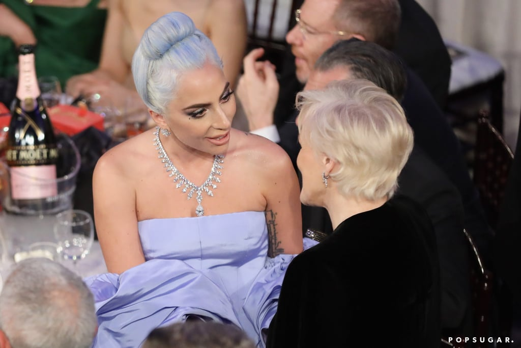 Pictured: Lady Gaga and Glenn Close