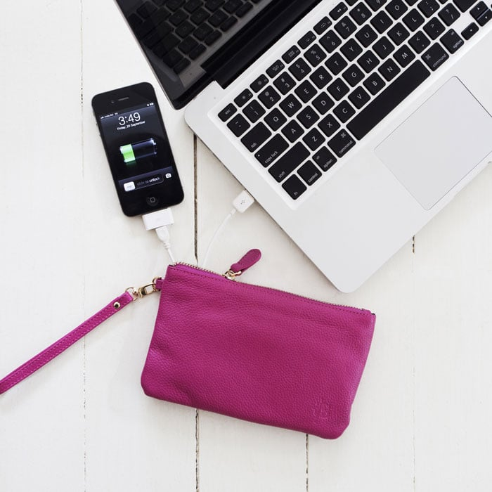 Meet the Mighty Purse ($100), your new best friend. The real leather clutch is available in a bunch of different pretty colors and features a lightweight built-in battery that recharges almost all smartphones. Just try not to carry it around everywhere.