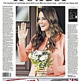 The front page of The Daily Telegraph, from England, on July 23.