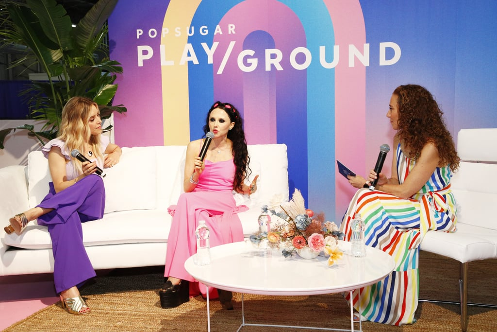 """Beyond the pretty pictures, Instagram is a business tool, and one that drives success to many fashion brands. It gives consumers who have never shopped a particular brand a feel for its style and values and long-time fans of it a first look at its latest designs. Alice + Olivia cofounder Stacey Bendet understands this and quickly adjusts her social media strategies as the app advances and develops new features. Bendet explained her tactics while on the """"When Confidence Calls"""" panel at POPSUGAR Play/Ground. """"I'm a big Instagram user, but it's really changed over the last 10 years,"""" she said. """"I used to look at Instagram as a look inside the Alice + Olivia world. It was what I was wondering, what we were doing; it was really, really organic. Then, when Stories launched, I had this sort of, like, midlife Instagram crisis."""" From there, Stacey began to reevaluate how she promotes her brand on its account. She restructured how she used her feed's grid. """"What I really try to do now is cultivate our main page almost like my own personal art gallery of beautiful Alice + Olivia imagery,"""" she said. Though how she uses her feed has changed, she refuses to sacrifice the brand's realness.  """"I think that Stories format has become really important to our brand,"""" she said. """"It's also just a really real look into what's happening into my fashion looks."""" Bendet revealed that she is directly behind the Instagram account, but she doesn't work alone. She's employed a team that creates content across multiple channels for her company. See her strategies in action on her brand's account, and check out the pictures from her panel at POPSUGAR Play/Ground ahead."""