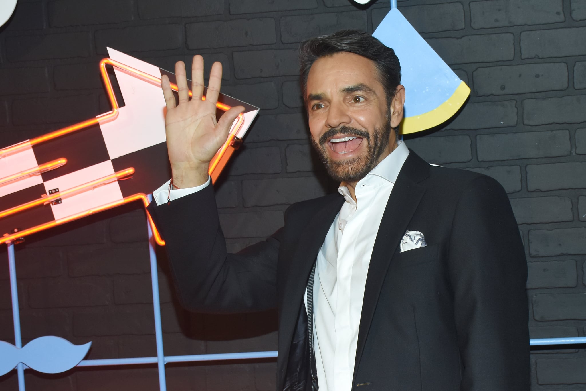 MEXICO CITY, MEXICO - DECEMBER 04: Eugenio Derbez  poses for photos during the red carpet of the new series 'LOL Last One Laughing' by Amazon Prime Video at Lago Tanganica 67 on December 4, 2018 in Mexico City, Mexico. (Photo by Carlos Tischler/Getty Images)