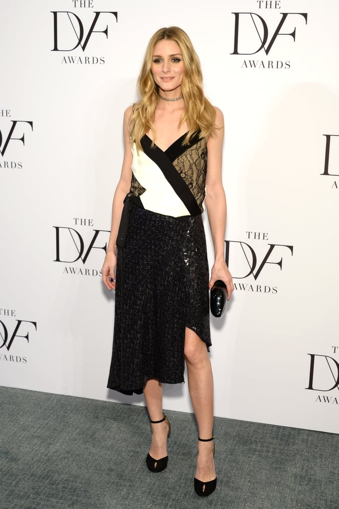 It was a slinky DVF wrap dress for Olivia at the DVF Awards in 2016.