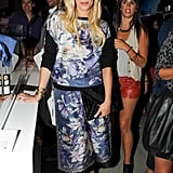 Keren Craig, who designs Marchesa with Georgina Chapman, looked cool in a matching printed top and skirt.