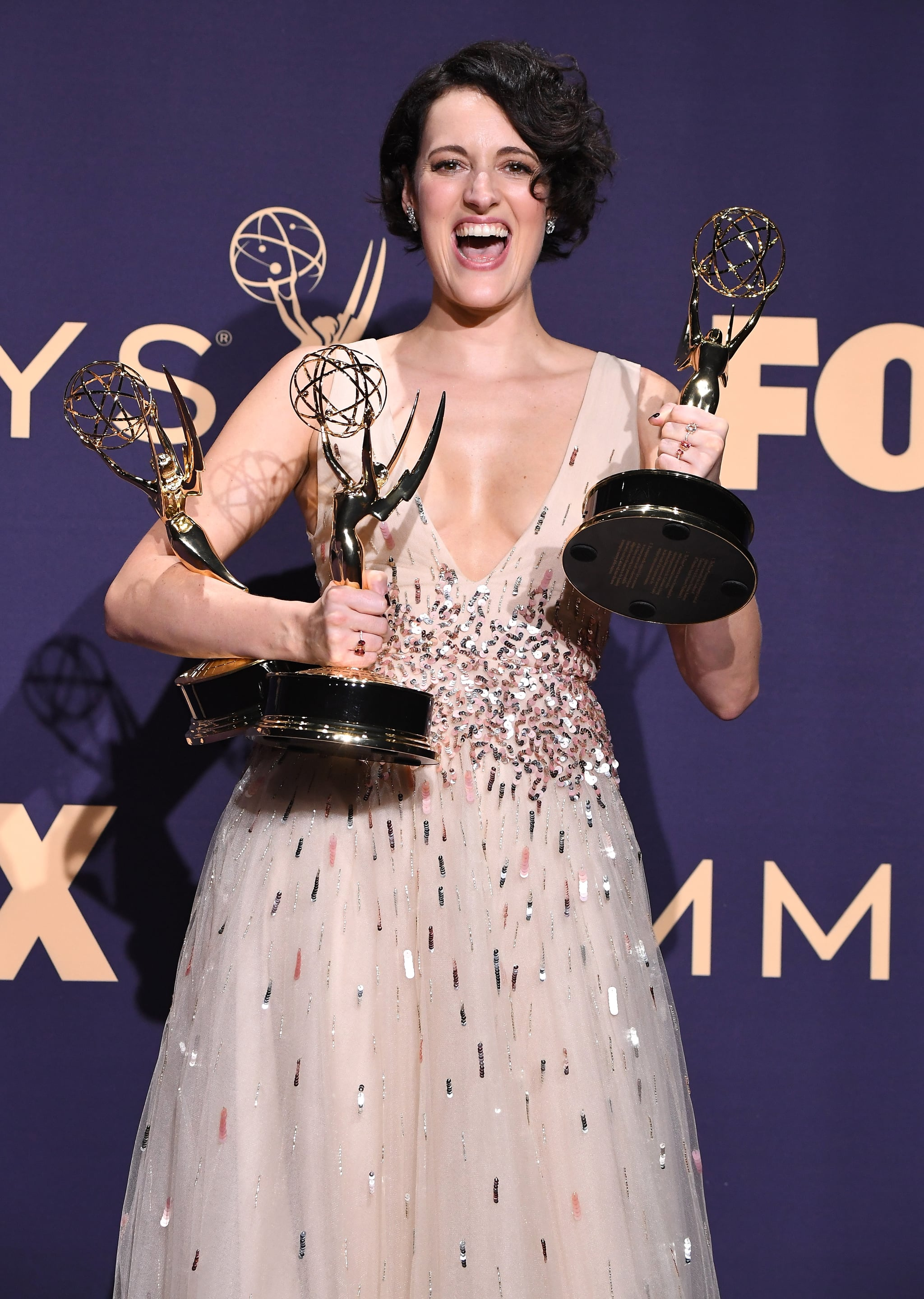 LOS ANGELES, CALIFORNIA - SEPTEMBER 22: Phoebe Waller-Bridge poses at the 71st Emmy Awards at Microsoft Theater on September 22, 2019 in Los Angeles, California. (Photo by Steve Granitz/WireImage)