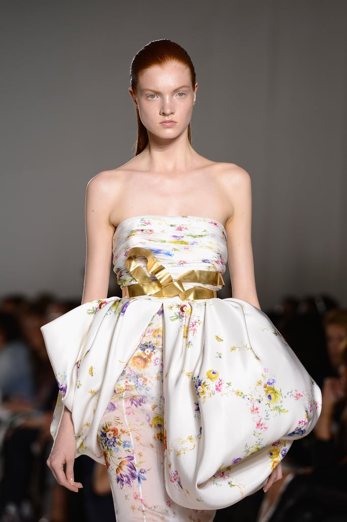 Like a peplum but artsier, this Giambattista Valli Haute Couture Fall 2013 dress is even more stunning up close.
