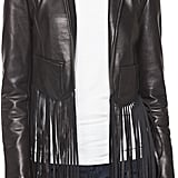 Cusp by Neiman Marcus Fringe-Trim Leather Jacket