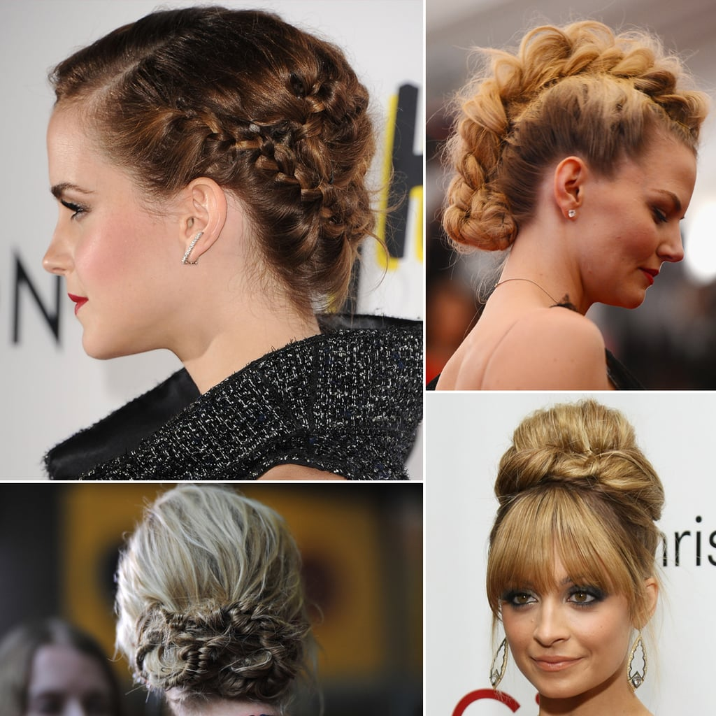 modern updos buns and chignons celebrity hair how to. Black Bedroom Furniture Sets. Home Design Ideas