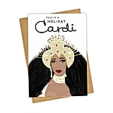 """This Is a Holiday Cardi"" Greeting Card"