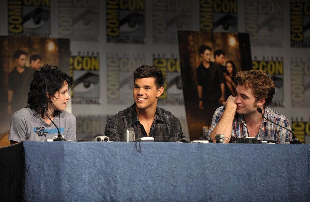 Kristen Stewart, Robert Pattinson and Taylor Lautner spoke about New Moon in 2009.