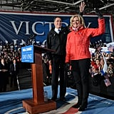 The Romneys welcomed fans on the final night of campaigning.