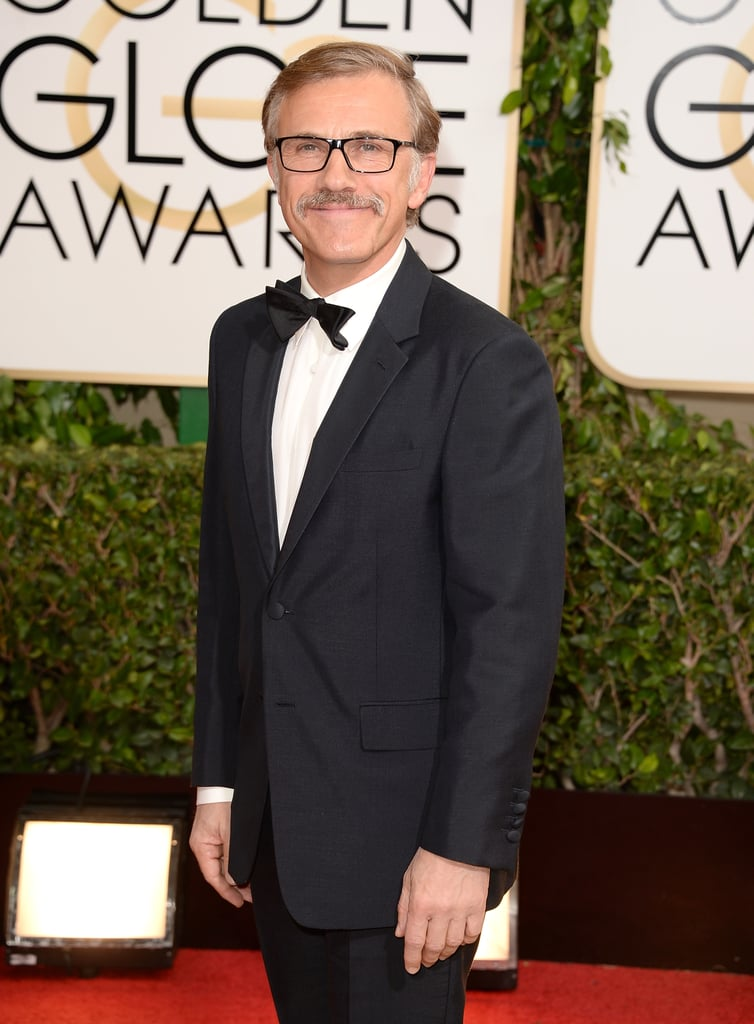Christoph Waltz accessorised with glasses at the Globes.