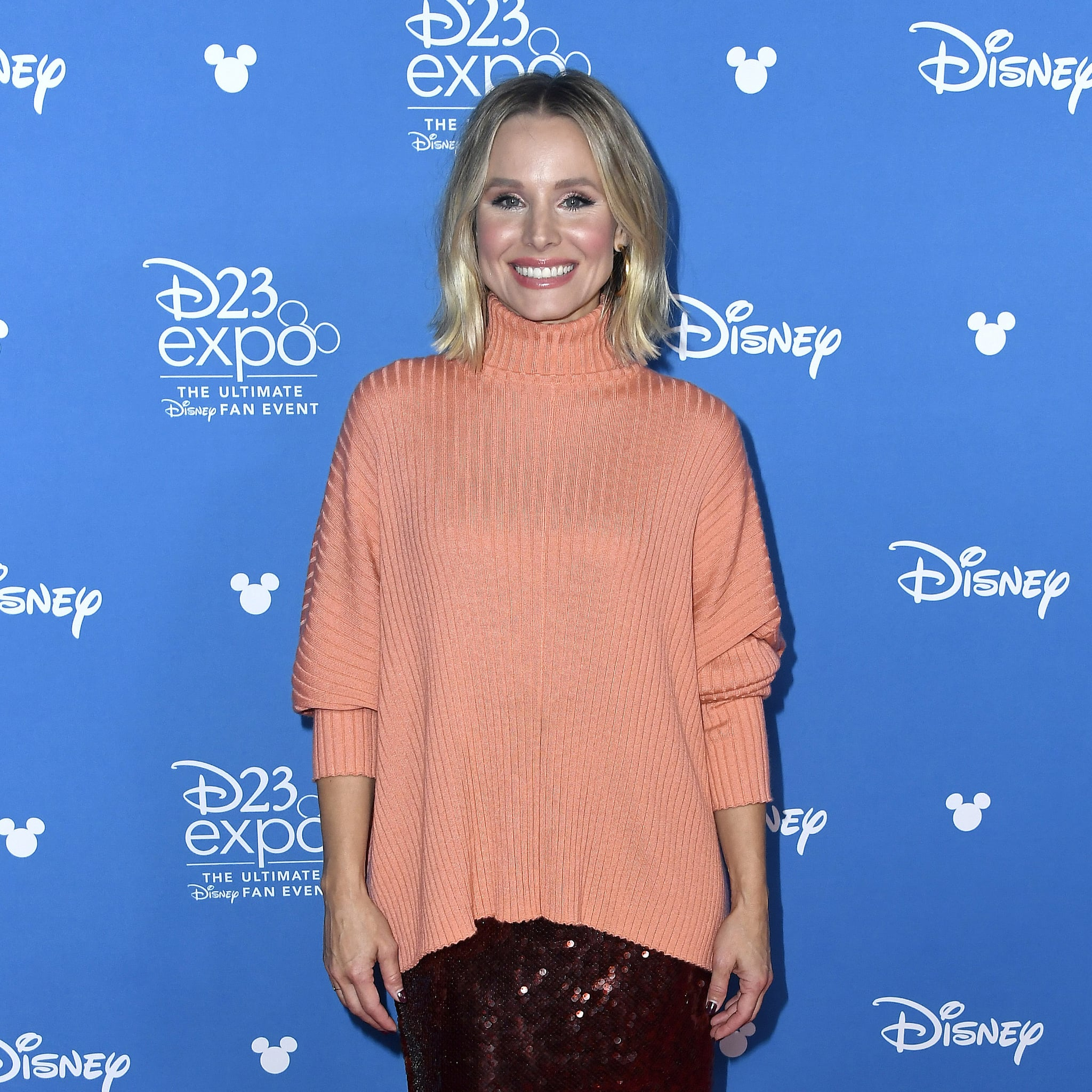 ANAHEIM, CALIFORNIA - AUGUST 24: Kristen Bell attends Go Behind The Scenes with Walt Disney Studios during D23 Expo 2019 at Anaheim Convention Centre on August 24, 2019 in Anaheim, California. (Photo by Frazer Harrison/Getty Images)