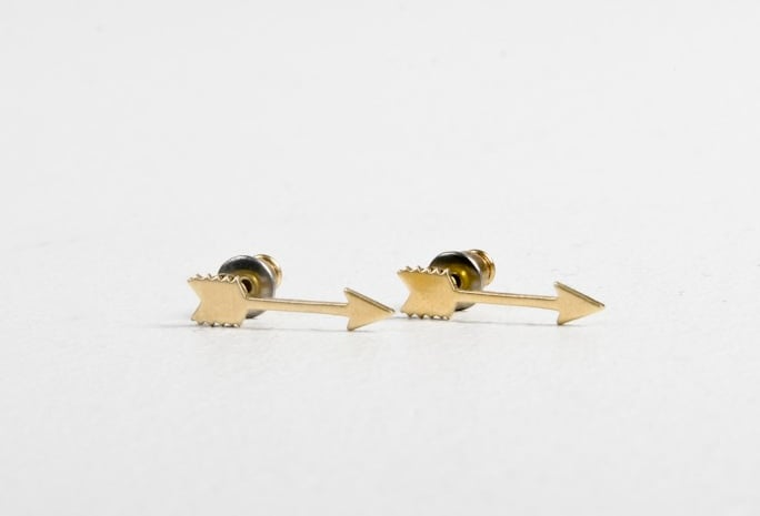 A.OK Gold Arrow Earrings ($23)
