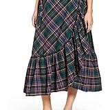 J.Crew Plaid Ruffle Wrap Skirt