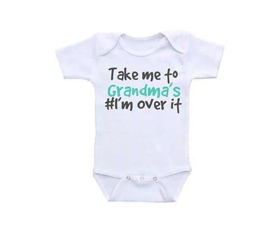 I'm Over It Baby Onesie
